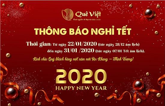 Quê Việt thông báo lịch nghỉ Tết Nguyên Đán 2020