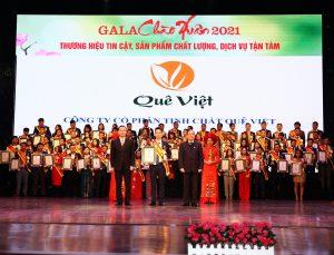 Quê Việt đạt Top 10 Thương hiệu tin cậy, sản phẩm chất lượng, dịch vụ tận tâm 2020